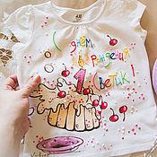 T-shirts handmade. Livemaster - original item t-shirt-postcard. Handmade.