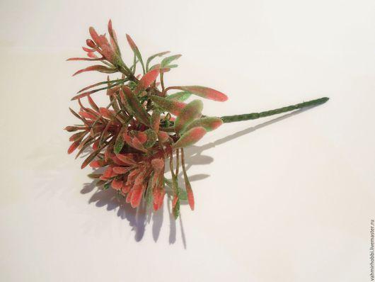 Другие виды рукоделия ручной работы. Ярмарка Мастеров - ручная работа. Купить Зелень красная припыленная 15 см ( пластик) 10501. Handmade.
