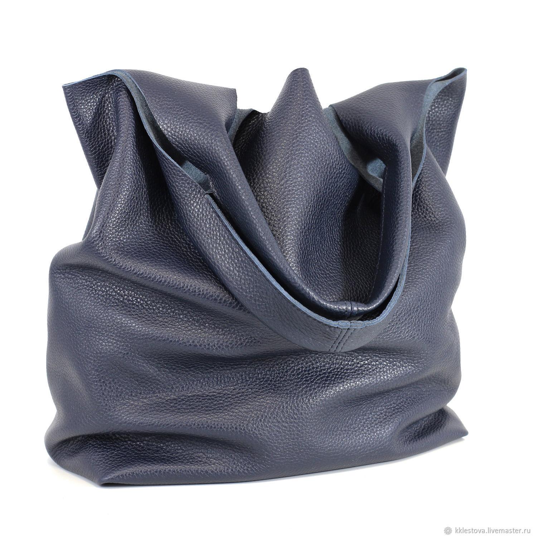 3fccf595466f Женские сумки ручной работы. Ярмарка Мастеров - ручная работа. Купить Синяя Сумка  Мешок средняя ...