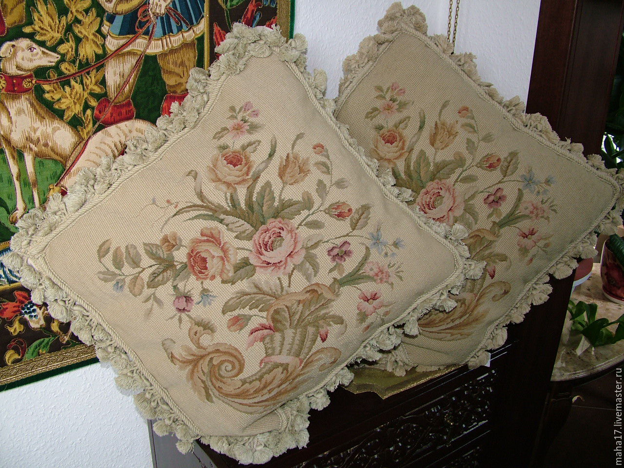 Рукоделие вышитые подушки