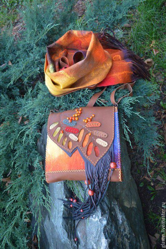 """Женские сумки ручной работы. Ярмарка Мастеров - ручная работа. Купить Сумка """"Рябинушка"""". Handmade. Разноцветный, осень, валяная шерсть"""