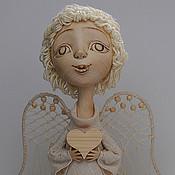 """Куклы и игрушки ручной работы. Ярмарка Мастеров - ручная работа """"Наивный ангел с сердцем"""". Handmade."""