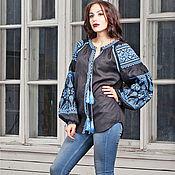 Одежда handmade. Livemaster - original item Linen embroidered boho blouse Design blouse (105). Handmade.