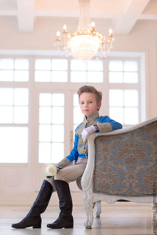 Одежда для мальчиков, ручной работы. Ярмарка Мастеров - ручная работа. Купить Принц. Handmade. Голубой, золушка, кожа