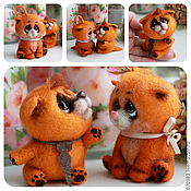Куклы и игрушки ручной работы. Ярмарка Мастеров - ручная работа котята Паф и Пифа. Handmade.