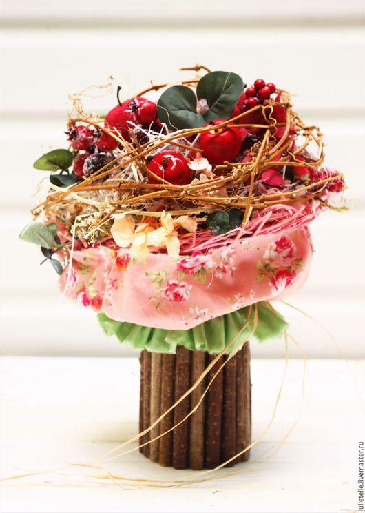 Интерьерные композиции ручной работы. Ярмарка Мастеров - ручная работа. Купить Яблочный букет. Handmade. Бордовый, подарок, флора