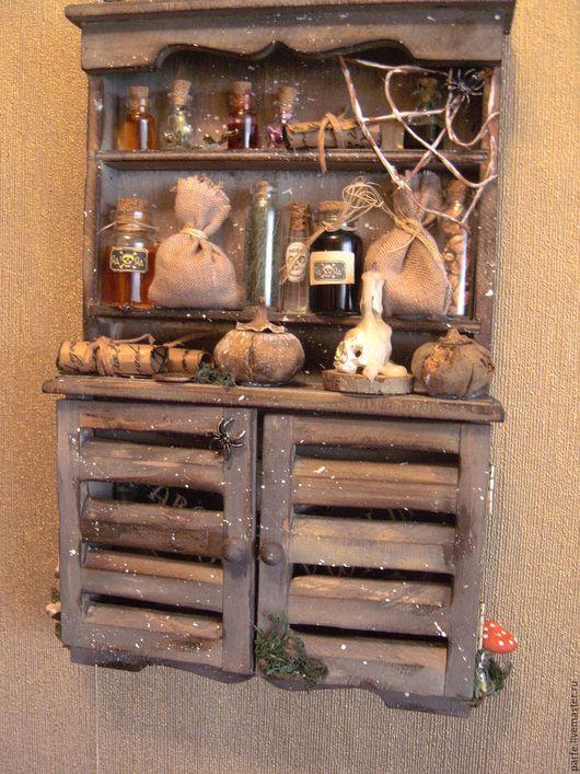 """Прихожая ручной работы. Ярмарка Мастеров - ручная работа. Купить Панно- ключница """" Шкаф старой колдуньи """" .. Handmade."""