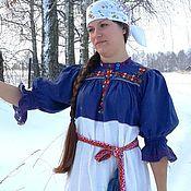 Русский стиль ручной работы. Ярмарка Мастеров - ручная работа Женская праздничная рубаха. Handmade.
