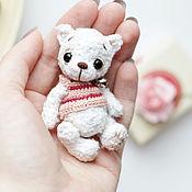 Куклы и игрушки ручной работы. Ярмарка Мастеров - ручная работа мини тэдди амигуруми мишка Таоши. Handmade.