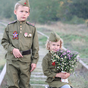Clothing. Livemaster - original item Children`s military uniform. Handmade.