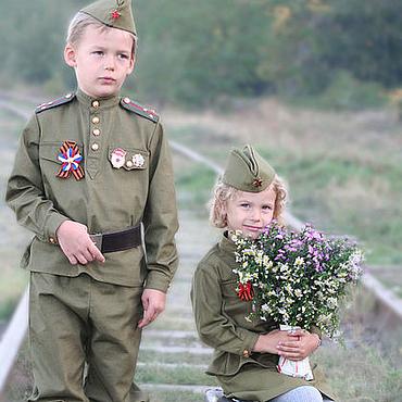 Одежда ручной работы. Ярмарка Мастеров - ручная работа Военная детская форма. Handmade.