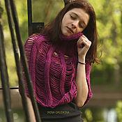 Одежда handmade. Livemaster - original item Purple poncho. Handmade.