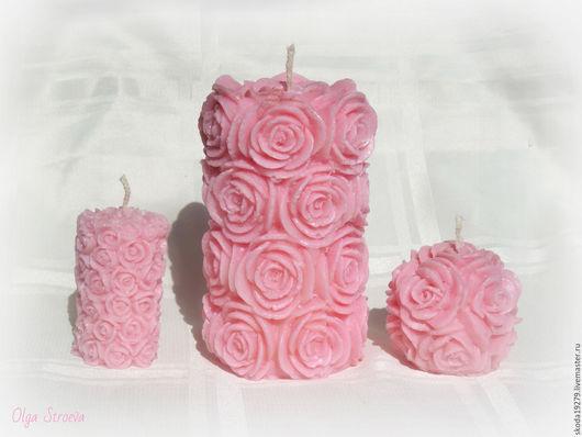 """Свечи ручной работы. Ярмарка Мастеров - ручная работа. Купить Набор ароматных свечей """"Пепел розы"""". Handmade. ароматный подарок"""