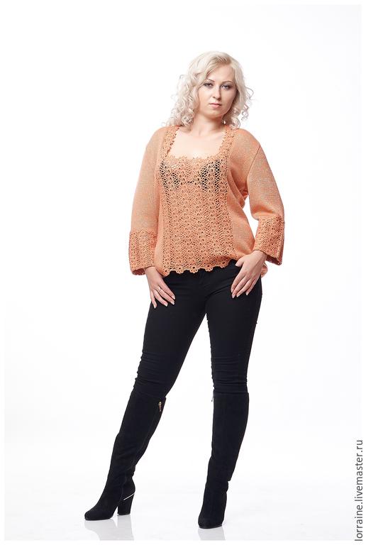 кружевные рукава.ручная работа.нежная шерсть.женская блуза.эксклюзивная одежда.женская одежда.нежная блузка.немецкая шерсть.большой размер.одежда для полных.одежда для полных женщин.свитер