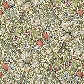 Материалы для творчества ручной работы. Ярмарка Мастеров - ручная работа Английская портьерная ткань William Morris Golden Lily. Handmade.