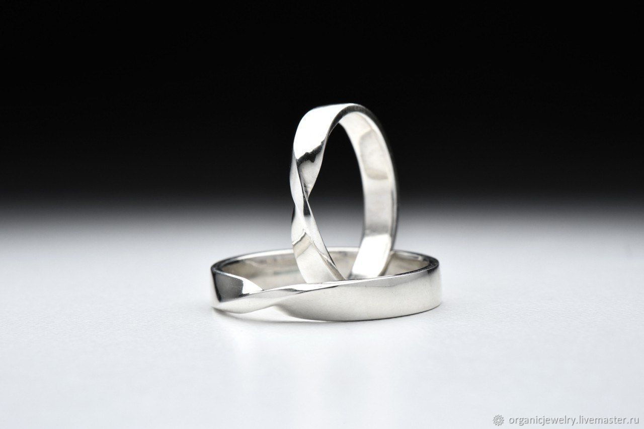 кольца на заказ серебро со знаком бесконечность