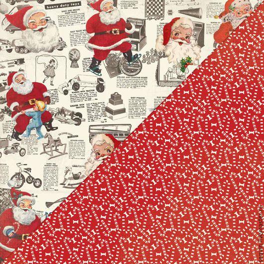 Открытки и скрапбукинг ручной работы. Ярмарка Мастеров - ручная работа. Купить Набор бумаги Authentique - Retro Christmas - 15x15 Paper Pad. Handmade.