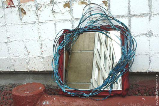 Зеркала ручной работы. Ярмарка Мастеров - ручная работа. Купить Зеркало Волна в траве. Handmade. Комбинированный, сосна