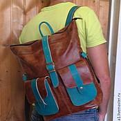 Сумки и аксессуары handmade. Livemaster - original item Backpack leather city 11. Handmade.