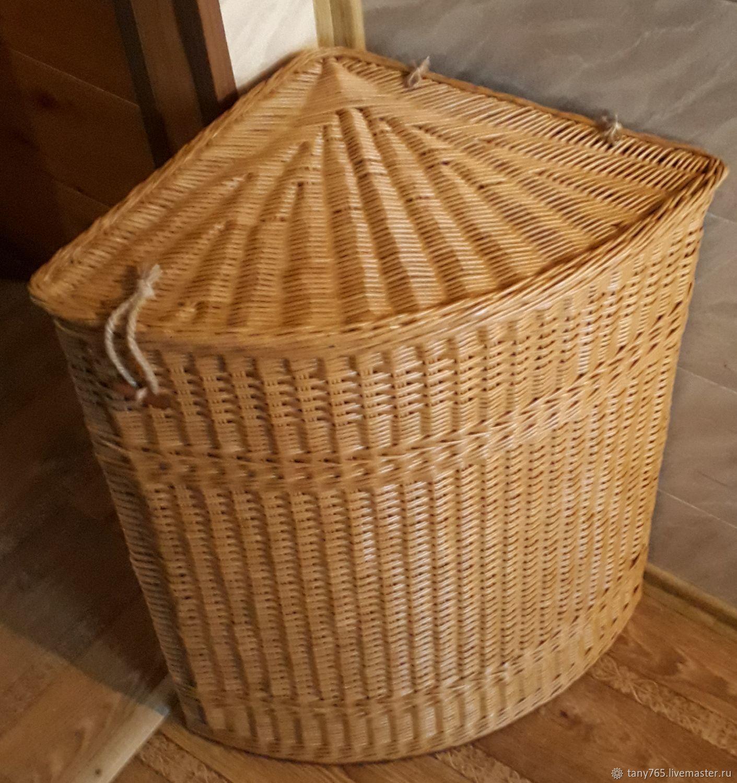 Плетеная угловая корзина для белья, Корзины, Санкт-Петербург,  Фото №1