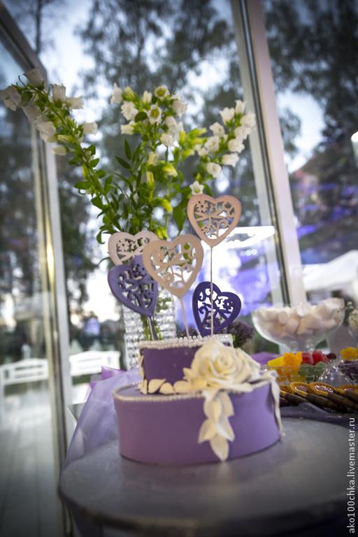 Свадебные аксессуары ручной работы. Ярмарка Мастеров - ручная работа. Купить Свадебный декор для канди бара. Тортик декоративный. Handmade.