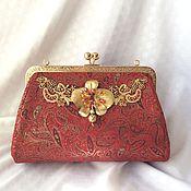 Сумки и аксессуары handmade. Livemaster - original item Leather handbag with clasp Golden Orchid. Handmade.