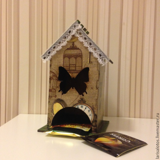 Чайный домик  `Бабочка внутри` - большой чайный домик  Мастер Лариса Рябцева