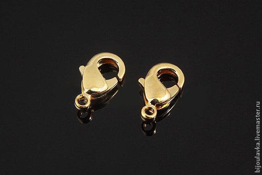 Для украшений ручной работы. Ярмарка Мастеров - ручная работа. Купить Замочки-лобстеры позолоченные, 9,5 мм х 5,5 мм, Южная Корея. Handmade.