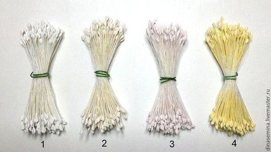 Тычинки японский дизайн мелкие с ложбинкой   1 головка - 0,17руб.   Фасовка пучками: 1 пучок - 50р (в пучке около 144 тычинок/280 головок по 0,17 руб, продается только в расфасованном виде)