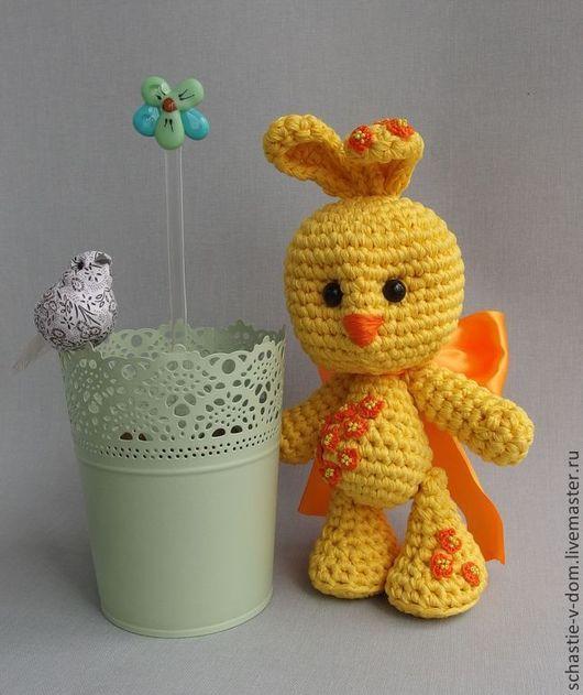 Игрушки животные, ручной работы. Ярмарка Мастеров - ручная работа. Купить Большой Солнечный заяц.. Handmade. Желтый, интерьерная игрушка