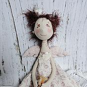 Куклы и игрушки ручной работы. Ярмарка Мастеров - ручная работа Куколка фейка-кофеейка Чашечка. Handmade.