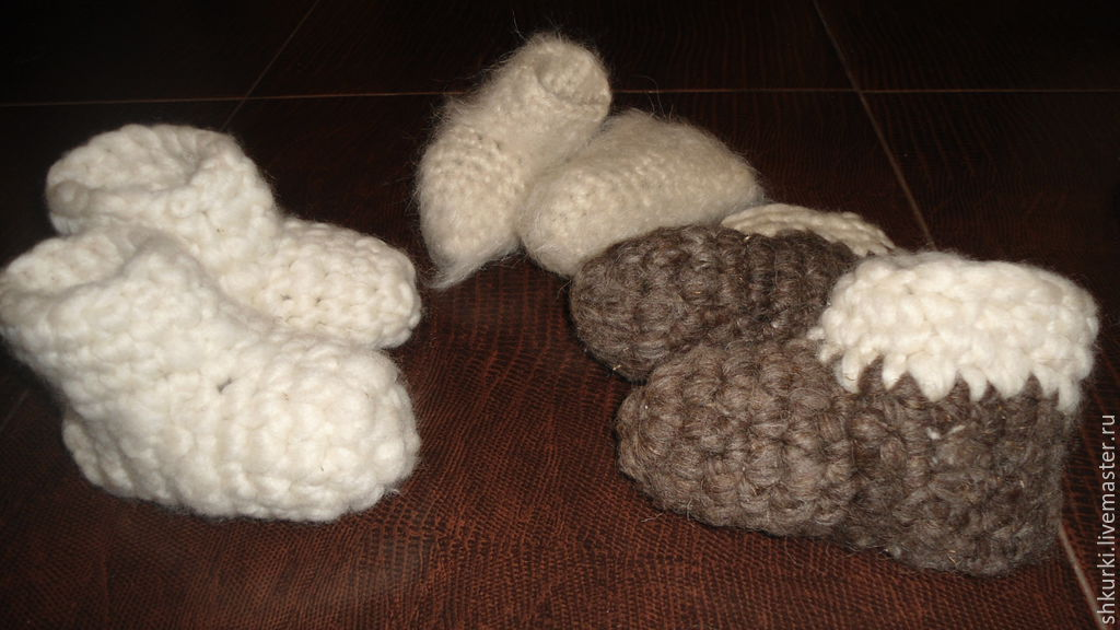 Домашняя обувь: Чуни «Зимние» Белые