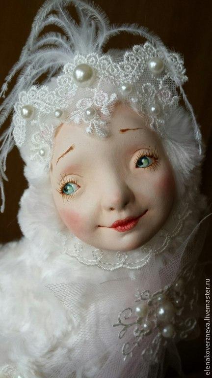Коллекционные куклы ручной работы. Ярмарка Мастеров - ручная работа. Купить Чудо-птица  авторская кукла флюмо искусственный мех 30см. Handmade.