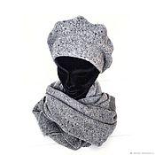 Аксессуары handmade. Livemaster - original item Beret and scarf knitted, yarn with cashmere. Handmade.