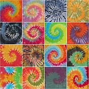 Одежда ручной работы. Ярмарка Мастеров - ручная работа Футболки/майки с классической спиралью tie-dye, узелковый батик. Handmade.