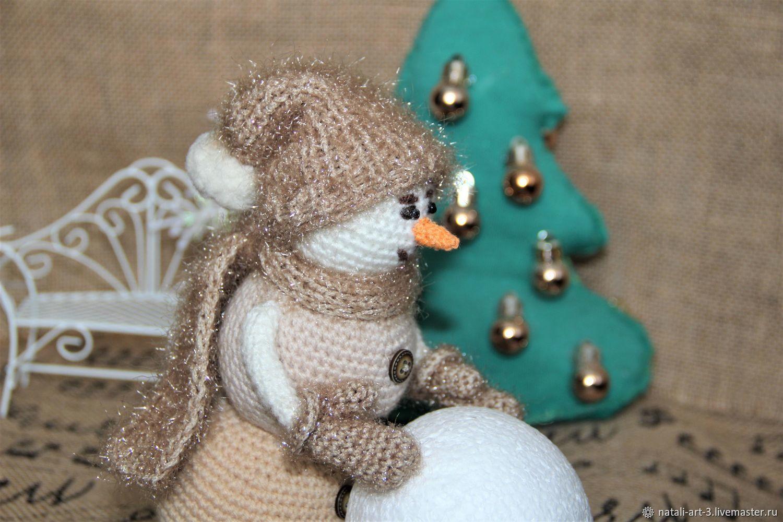 """Снеговик крючком """"Кофе со сливками и корицей"""", Снеговики, Арсеньев,  Фото №1"""