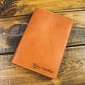 Diaries handmade. Livemaster - original item Cover leather for diary rings for refills A5. Handmade.