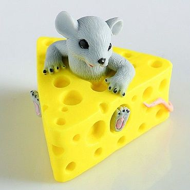 Cosmetics handmade. Livemaster - original item Handmade Soaps Mouse in the cheese.. Handmade.
