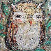 Картины и панно ручной работы. Ярмарка Мастеров - ручная работа Совушка (репродукция). Handmade.