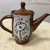 """Посуда ручной работы. Ярмарка Мастеров - ручная работа Чайник """"одуванчик"""". Handmade."""
