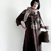 """Одежда ручной работы. Ярмарка Мастеров - ручная работа Платье из льна размера плюс """"Ася"""". Handmade."""
