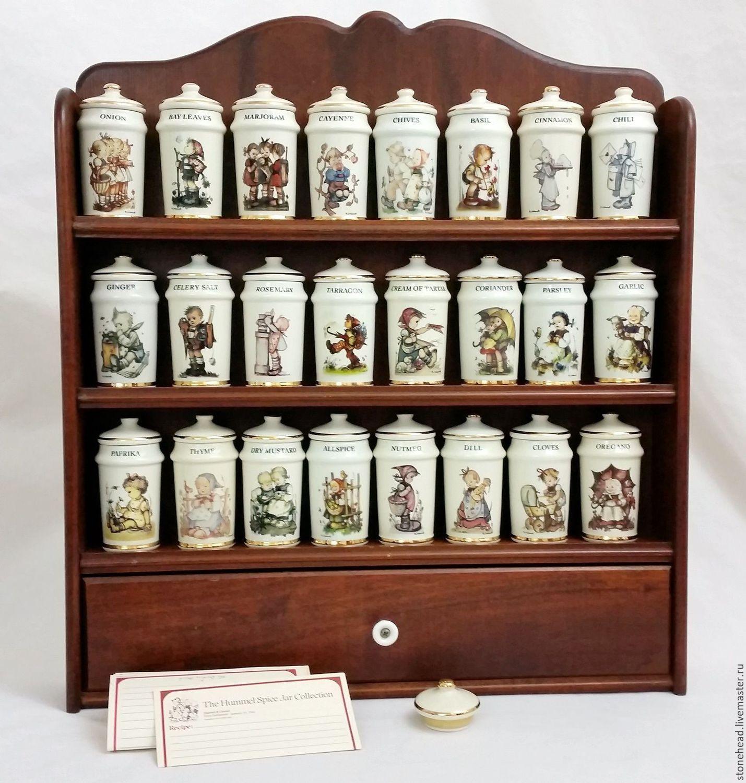 Винтаж: Коллекционный винтажный набор для специй с полочкой от Humme, Предметы интерьера винтажные, Данвилл,  Фото №1