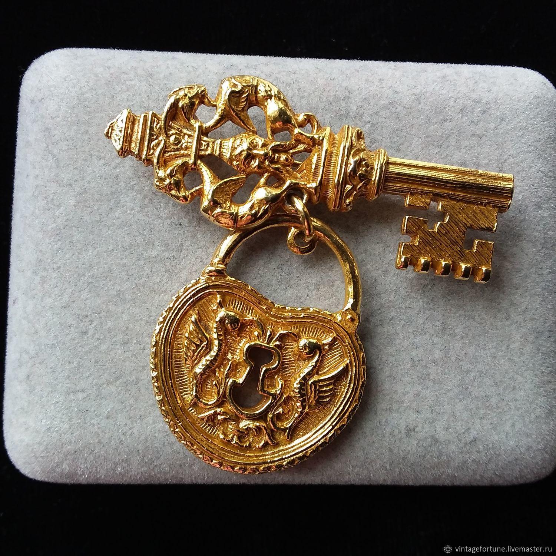 Vintage Jewelry. Livemaster - handmade. Buy ART vintage brooch Key-Lock, ...
