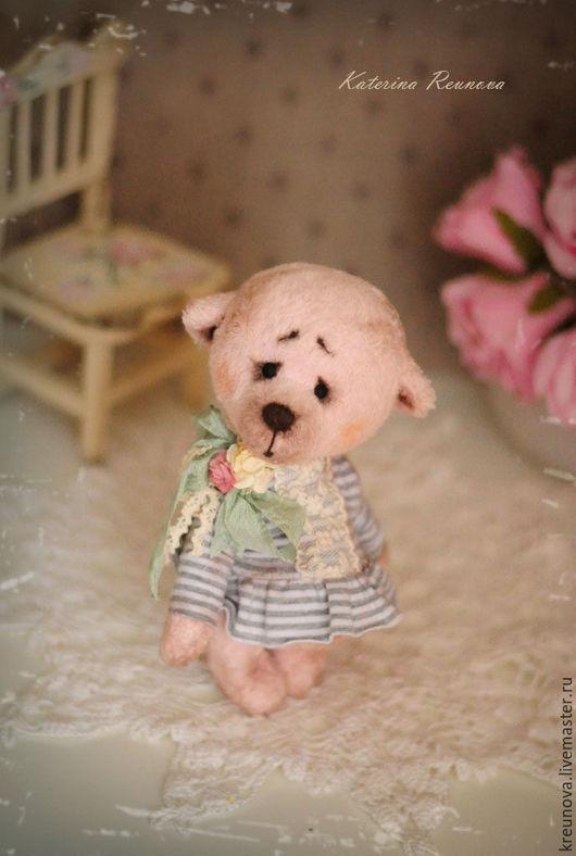 Мишки Тедди ручной работы. Ярмарка Мастеров - ручная работа. Купить Машуля. Handmade. Бледно-розовый, подарок на день рождения