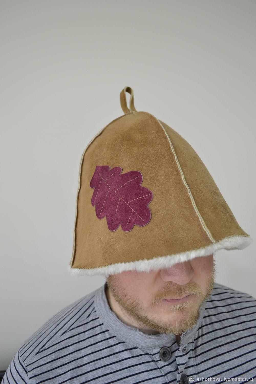 Hat fur bath (with leaf), Textiles for a bath, Cheboksary,  Фото №1