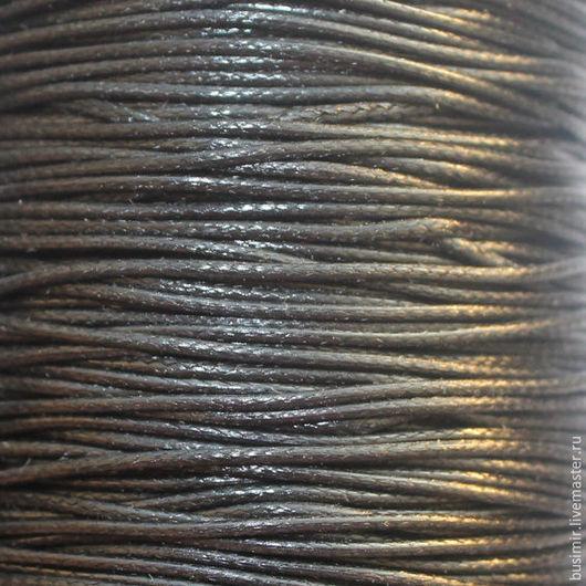 Для украшений ручной работы. Ярмарка Мастеров - ручная работа. Купить Шнур полиэстеровый 0.8 мм. Handmade. Черный