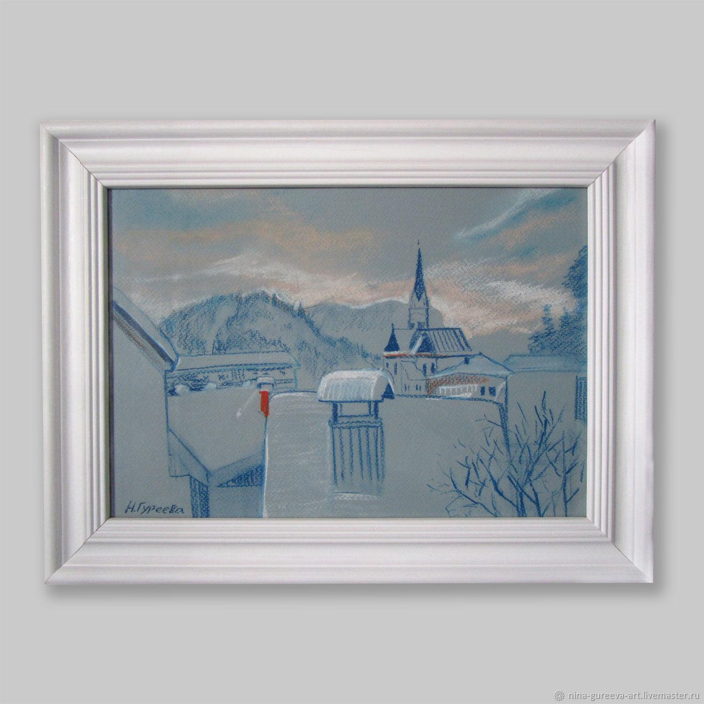 Зима на озере Блед в Словении, Картины, Москва,  Фото №1