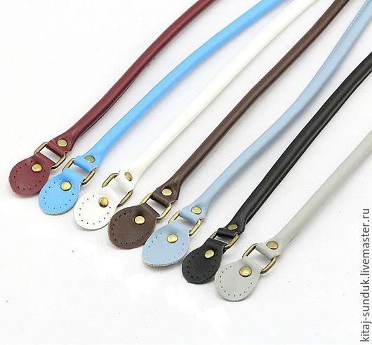 Другие виды рукоделия ручной работы. Ярмарка Мастеров - ручная работа. Купить Ручки кожаные подвижные для сумок 50 см 10 цветов. Handmade.