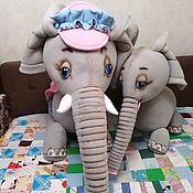 Куклы и игрушки handmade. Livemaster - original item Elephants. Mom and her baby Jumbo. Theatrical tablet doll.. Handmade.
