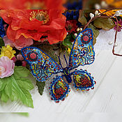 """Украшения ручной работы. Ярмарка Мастеров - ручная работа Брошь-бабочка """"Кружевная"""". Handmade."""